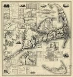 Barnstable, Dukes and Nantucket Counties 1858 Wall Map with background, Barnstable, Dukes and Nantucket Counties 1858 Wall Map